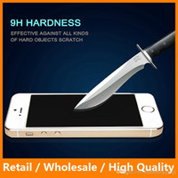 Wholesale Cheap Iphone Glass Screens - Cheap Tempered Glass for iPhone 5c 2.5D 9H 0.3mm Ultra thin Screen Protector for iPhone Accessories
