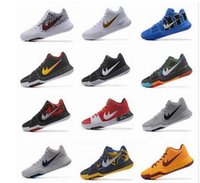 2017 Kyrie Irving 3 Hot Punch Team Red Christmas zapatos de baloncesto baratos Hombres Top Quality Kyrie 3 Air Cushion Sports Sneakers Size US7-12