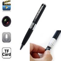 Wholesale Usb Pen Cam - Silver+Black USB Mini DV Pen Spy Camera Recorder Hidden Security Ball-pen DVR Cam Video Recorder 720*480 Free Shipping