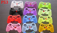 Wholesale Free Xbox Covers - Colorful gamepad Soft Silicone Gel Rubber Case Skin Grip Cover For Xbox One Xbox 360 PS3 PS4 Wireless Controller Free Shipping