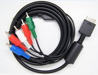 Wholesale Display Lcd Lines - Audio Video AV RCA Cable for PlayStation 3 PS3 PS2 Console TV HDTV LCD Display Connecting Cable Line Color Component Cord