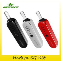 Wholesale Herb Ceramic Heating Chamber - Authentic Airistech Herbva 5G Starter Kit Vaporizer Dry Herb 1000mAh Battery With Ceramic Heating Chamber Airis Vape Pen 100% Original