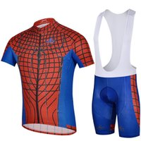 Wholesale Cycling Jersey Spiderman - Red and Blue Color Marv Spiderman Cycling Bike Jerseys Vennom Serious Ciclismo Montaa Carretera Clothes with Pockets Quick Dry Free Shipping