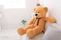 "Wholesale Giant Teddy Bear For Free - Wholesale-Free shipping 1pcs 80cm Teddy Bear Stuffed Animal Plush Toys 31.5"" Giant Teddy Bear Plush Toy For Girlfriend Gift"
