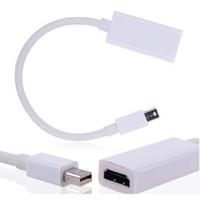 mini dizüstü bilgisayar adaptörü toptan satış-Mini DP HDMI Kablosu Dönüştürücü Adaptör Mini DisplayPort Ekran Bağlantı Noktası DP Mac Macbook Pro Hava Notebook Için HDMI Adaptörü