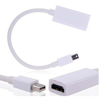 Wholesale Hdmi Cables Retail Packaging - Mini DisplayPort DP To HDMI Adapter Cables Wiht Retail packaging 100pcs lot AAAA Quality Free DHL