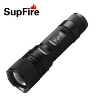 Wholesale Using Torch - SupFire F3 cree led zoomable flashlight torch using AAA or 18650 lithium 300lm 1100lm mini rechargeable led zoom adjustable flashlight torch