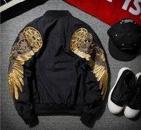 Wholesale Men Original Baseball Jacket - New Original tide brand embroidery baseball clothing spring coat tide tide air force men MA1 pilots jacket