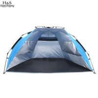 Wholesale Waterproof Pop Up Tents - Wholesale- Pop-up Tent Beach Tent Polyester Waterproof UV Protect 3-4 Person Outdoor Automatic Camping Hiking Fishing Tents Lightweight