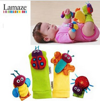 "Wholesale Pair Lamaze - new Lamaze a pair Foot Set foot Finder Ladybug Bee Plush toy toddler Infant toys 5.5"" toddler Infant toys 5.5"""