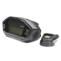 Wholesale Motorcycle Speedometer Sensor - High quality Motorcycle LCD Digital Speedometer Odometer 7 color adjustable Backlight motorcycle computer Odometer+speed sensor order<$15 no