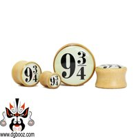 Wholesale Tunnels 24mm - 2015 hot sale fashion fantastic guage Wholesale brown wood ear plugs and tunnels piercing Body Jewelry size 8-24mm.