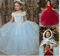sudaderas con capucha de lana para niñas al por mayor-Baby Girl Tutu encaje con volantes vestido Frozen con capucha Cape Poncho paño grueso y suave princesa Puff hombro vestidos de fiesta de Navidad Ropa de bebé