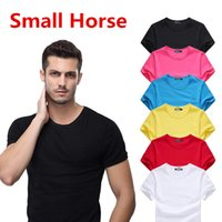 Wholesale cool t shirts for men - New Summer Men's Small Horse Embroidery T Shirt Men Summer Casual Short Sleeve Fashion T-shirt For Man Cool Tops brand clothing High Quality