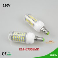 Wholesale Bright Candles - 1Pcs New Arrival 20W 69 LEDs SMD 5730 E14 LED Corn lamp Bulb AC 220V Ultra Bright 5730SMD LED Candle light Chandelier Spotlight