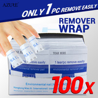 Wholesale uv gel nail remover - 100Pcs lot Nail Art Gel Polish Lacquer Easy Remover nail Wraps Magic Nail Polish UV Gel Remover Nails Care Tools