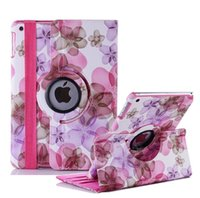 Wholesale Ipad Covers Flowers Pink - Lucky Flower Sweet Floral girl's Leather case for iPad Air 2,360 Leather Cases Stand Cover for Apple iPad Air 2  iPad 6