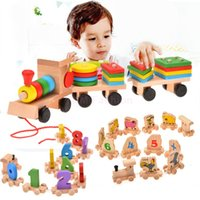Wholesale Brand New Baby Kids Toys Stacking Train Toy For Children Funny Farly Educational Toy Blocks SV014443