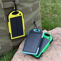 Wholesale Cell Phones Solar Panels - Portable Solar Charger Power Bank Panel 5000mah 12000mah For Moblie Phone CellPhone Smartphone 2 USB Ports Waterproof Outdoor Solar Battery