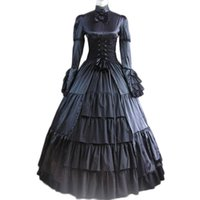 Wholesale Belle Costume Renaissance Gown - Top Sale Gothic Lolita Party Dress Vintage Victorian Belle Dress women Ball Gowns Medieval Dress Halloween Costumes for Women Gothic Dress