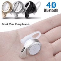 Wholesale Chinese Handsfree Car - 2016 New Small Snail Mini A8 Earphones Bluetooth V4.0 Headset Wireless Earphone Headphone Multi-point Earbud Music Car Handsfree Universal