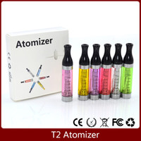 Wholesale E Cig Ce9 - Best Quality T2 Atomizer 2.4ml Clearomizer e Cigarette e cig ego Tank replaceable CE9 for ego battery evod vision spinner 2
