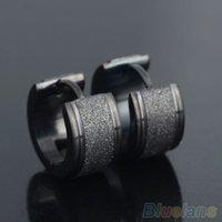 Wholesale Ear Hoop Stud Earrings - 1 Pair Men's Women's Titanium Steel Dull Polish Hoop Huggie Earrings Ear Studs 3TSB