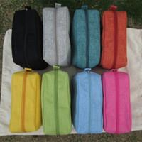 Wholesale Zipper Jute Bag - Ready in stock Jute Zigzag Colorful Womens Cosmetic Cases Makeup Bag Free Shipping burlap makeup bags DOM103154