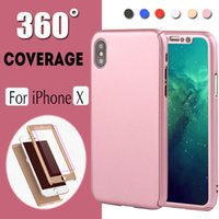 silver tempered glass iphone Canada - 360 Degree Full Body Coverage With Tempered Glass Hard Ultra Slim Cover Case For iPhone XS Max XR X 8 7 6 6S Plus 5 Samsung Note S9 S8 S7 S6