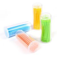 kirpik kullan toptan satış-200 adet Mikro Fırça Microbrush Kirpik Uzatma Düzenli (2mm) Jel Tutkal Sökücü veya Kirpik Araçları ile Kullanmak için Mükemmel