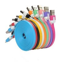 1M / 2M / 3M Flat Noodle Micro USB Charger Data Sync Cable Cord Шлейф для Samsung S5 S7 I телефон 6 плюс