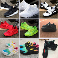 Wholesale running trainers black resale online - 2020 Classical Huarache Triple White Black Green Huraches Running Shoes for mens womens Hurache sports Sneaker trainers