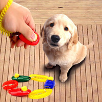 Wholesale Dog Pet Trainer - Free Shipping 1 Piece New Dog Pet Click Clicker Training Trainer Aid Wrist Strap