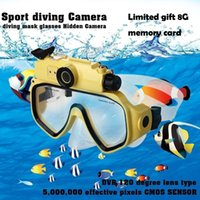 Wholesale Used Lcd Tvs - 2015 Newest Full HD Waterproof Camera 720p Sports Diving Glasses AT191 USB2.0 High Speed TV-out Water Depth 30M
