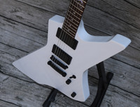 Wholesale explorer string online - Upgrade SnakeByte James Hetfield White Explorer Electric Guitar Ebony Fretboard Snake With Eye Inlay Black Lock Tuner Made In Japan Logo