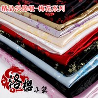 Wholesale Han Chinese Clothing - Han Tang Chinese Clothing Costume COS Kimono Dress Baby Clothes Couture Fabrics  Brocade Plum Blossom Series 90cm Wide