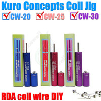Wholesale coil jig wire coiling tool resale online - high qualityKuro Koiler Wire Coiling Tool coil jig atomizer coil tool Wrapping Coiler for ecig kayfun ATTY Orchid haze aris Origen Legion