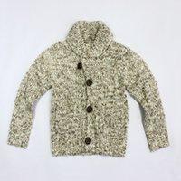 Wholesale Childrens Turtlenecks - Wholesale-Boys coat long sleeve cardigan sweater fashion knitwear sweater gray turtleneck sweaters for childrens 4C0851