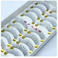 Wholesale taiwan false eyelashes wholesale - Wholesale-10 pairs of dress Free shipping Hot 218 transparent stems eyelashes Taiwan pure hand cross section false eyelashes