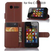 Wholesale D3 Case - filp caes for Alcatel one touch, pop D1, pop D3, pop D5 Luxury Credit Card Holder wallet flip Lychee Pattern leather Case