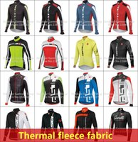 Wholesale Winter Men Thermal Fleece - 2015 Winter Men Thermal cycling clothing cycle race sportswear fleece Cycling jersey cycling jacket Long clothing ropa ciclismo Bike maillot