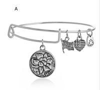 Wholesale Alex Ani Silver - 2015 Gold and silver Alex and Ani Family Distaffer Bangle Bracelets For Women Fashion Brann Jewelry EH108