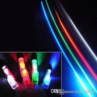 Wholesale Laser Magic Colour - New 4pcs Lot Party LED Magic color lights glowing dazzle colour laser emitting finger ring Finger light up toy Free shipping!