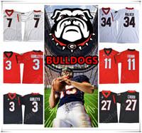 Wholesale hot walkers - NEW Georgia Bulldogs NCAA Jersey 3 GURLEY II 7 SWIFT 11 Jake Fromm 10 Jacob Eason 27 Chubb 34 Herschel Walker Football Jerseys HOT