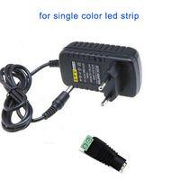 12v eingang led-lichtstreifen großhandel-DC 12V 2A LED Transformator Netzteil + Buchse für SMD 3528 5050 LED Flex Leiste Licht Eingang 110V 220V 230V 240V DHL