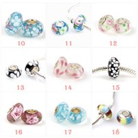 Wholesale Newest fashion loose beads Sterling Silver Murano Glass Charm Bead For Pandora Bracelet