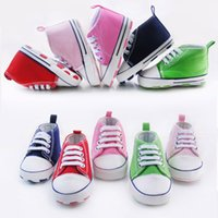Wholesale Infant Shoe Laces - High Quality Infant Baby Shoes Newborn First Walker Shoes Toddler Baby's Boy Girl Shoes Lace-Up Shoes