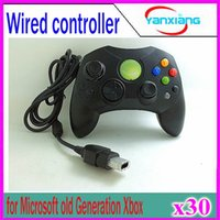 Wholesale Video Games Xbox - 30pcs Wired Controller S Type 2 A for Microsoft Old Generation Xbox Console Video Game YX-XBOX-03