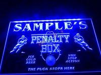 Wholesale Beer Hockey - DZ050-b Name Personalized Custom Hockey Penatly Box Bar Beer Neon Sign.JPG