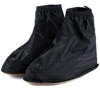Wholesale Quality Rain Gear - New 1Pair High Quality Waterproof Rain Shoes Cover Men Cycle Rain Boots Flat Slip-resistant Overshoes Rain Gear 673339
